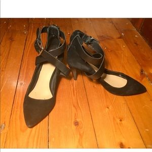 Joe ´s Jeans black suede and leather pumps